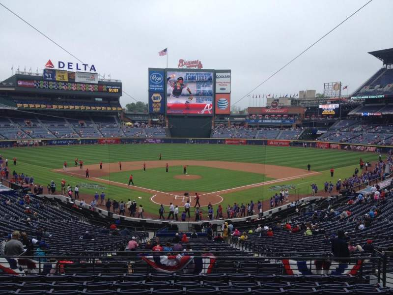 Seating view for Turner Field Section 201 Row 10 Seat 110
