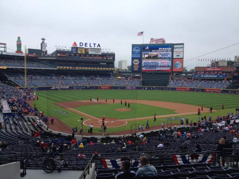 Seating view for Turner Field Section 203 Row 10 Seat 111