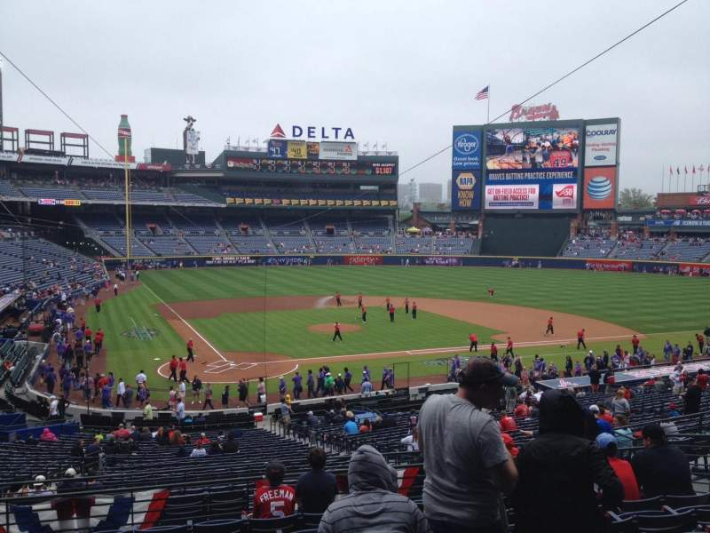 Seating view for Turner Field Section 205 Row 9 Seat 113