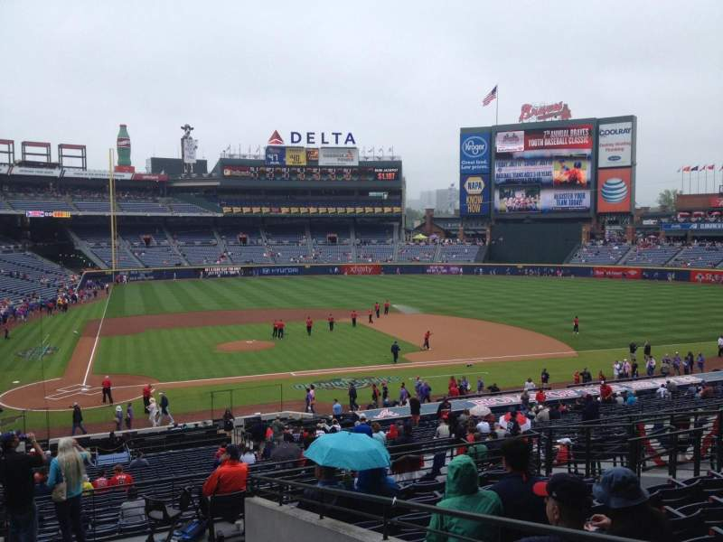Seating view for Turner Field Section 207 Row 10 Seat 112