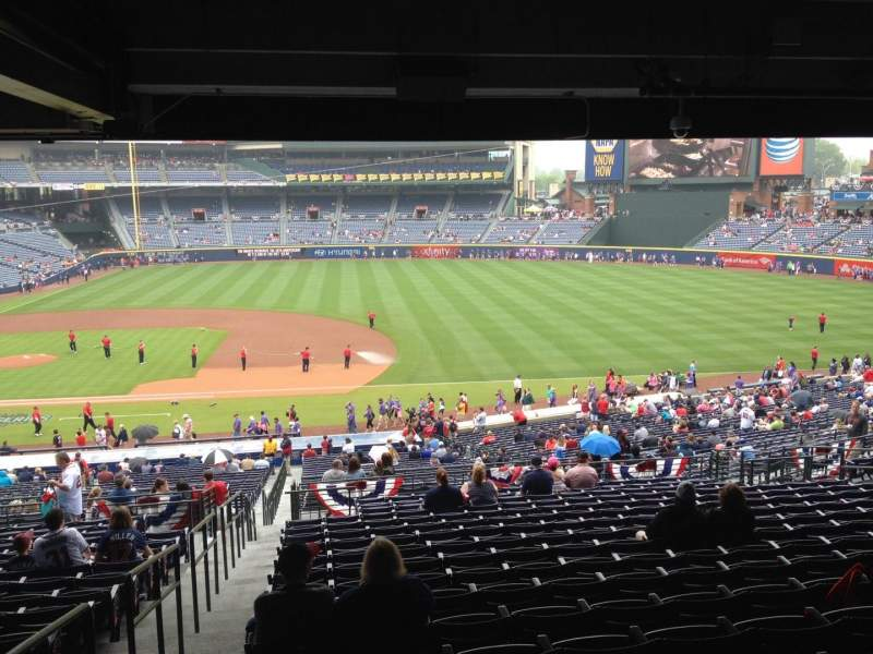 Seating view for Turner Field Section 215 Row 17 Seat 1