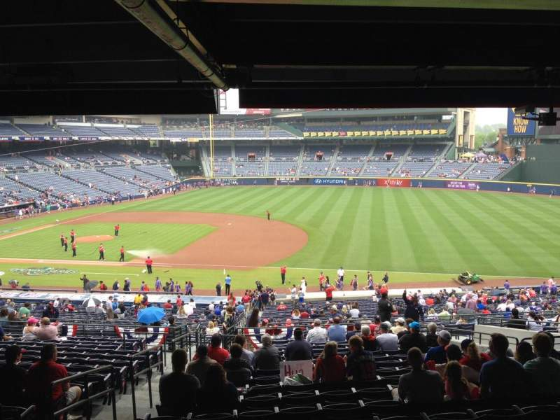 Seating view for Turner Field Section 217 Row 17 Seat 1