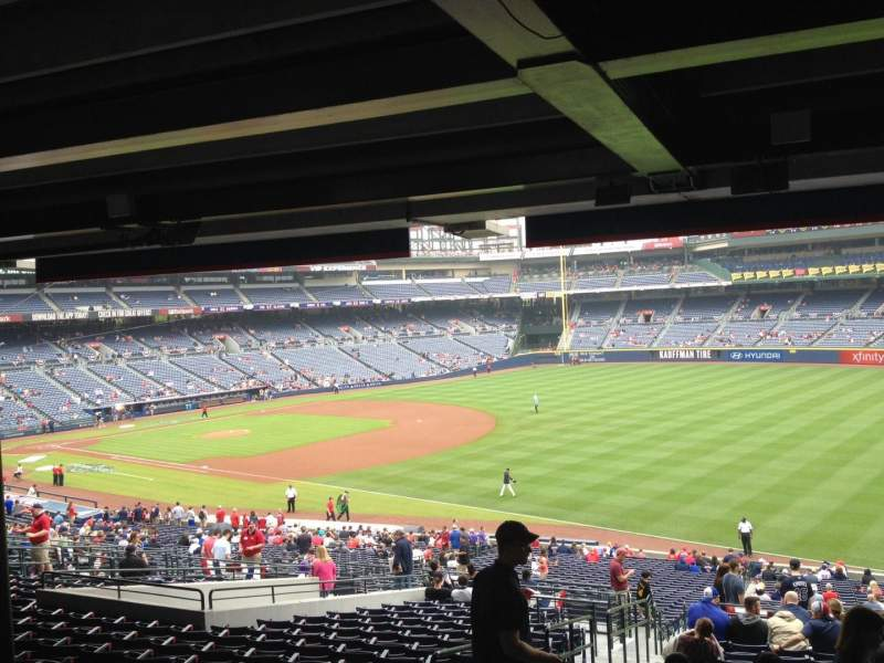 Seating view for Turner Field Section 223 Row 17 Seat 1