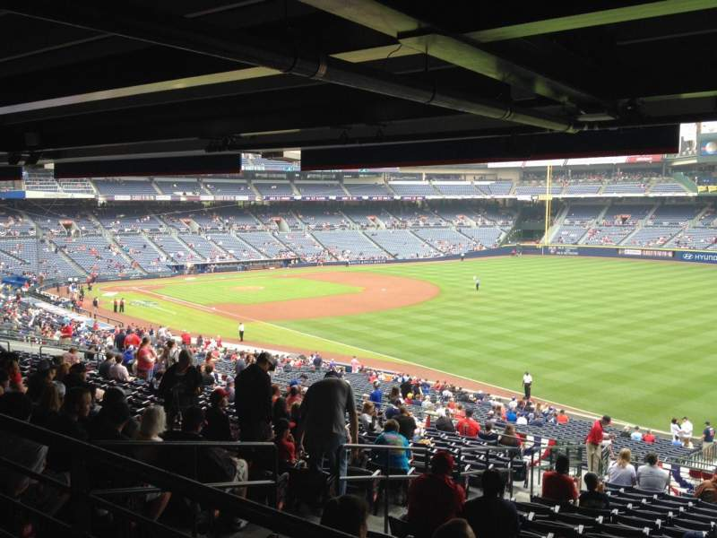 Seating view for Turner Field Section 225 Row 17 Seat 4