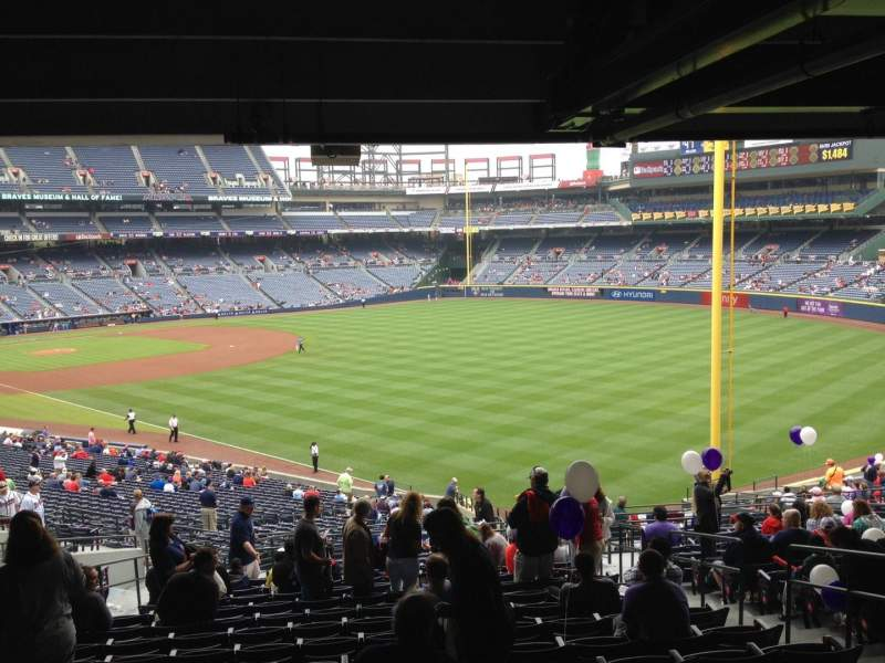 Seating view for Turner Field Section 229 Row 17 Seat 104