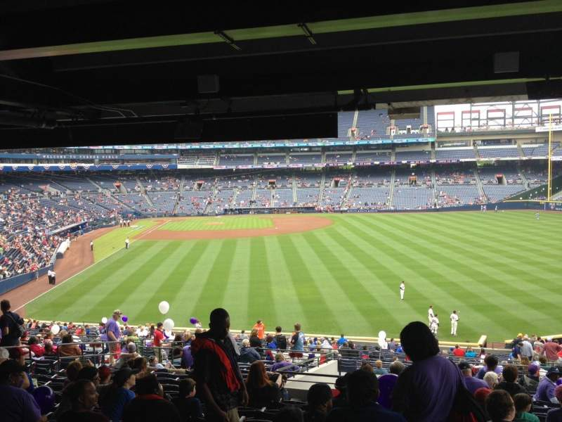 Seating view for Turner Field Section 239 Row 17 Seat 107