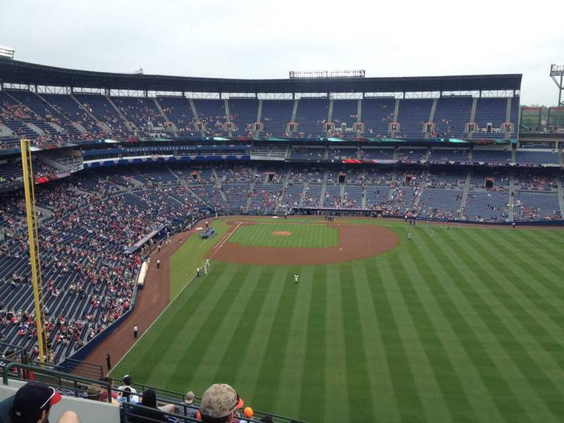Seating view for Turner Field Section 437 Row 13 Seat 101