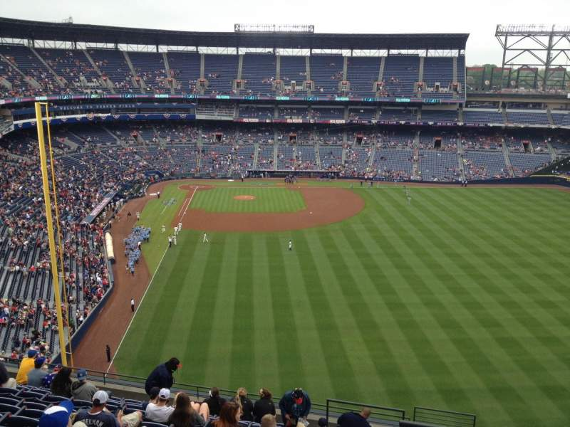 Seating view for Turner Field Section 435 Row 13 Seat 101