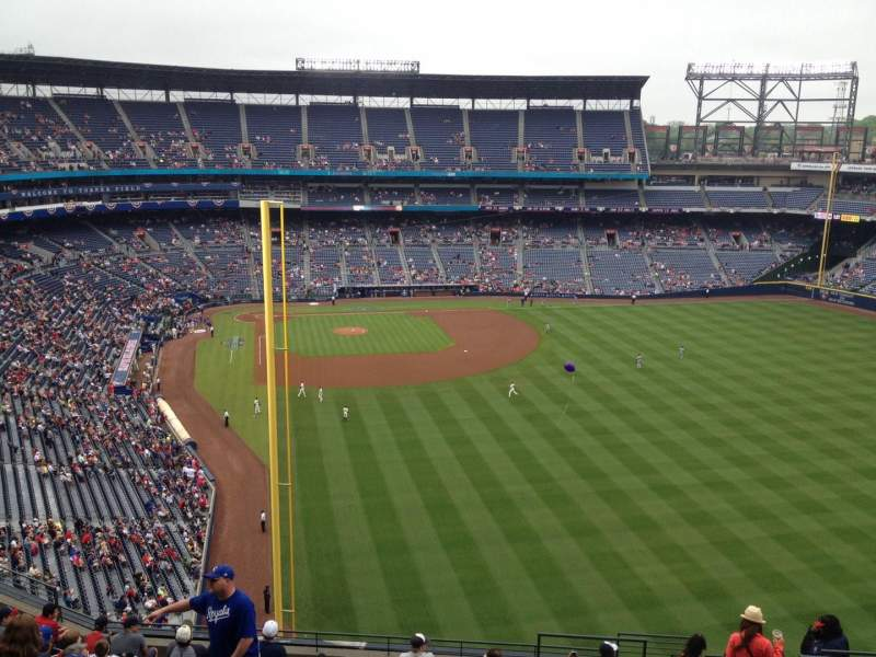Seating view for Turner Field Section 433 Row 14 Seat 104