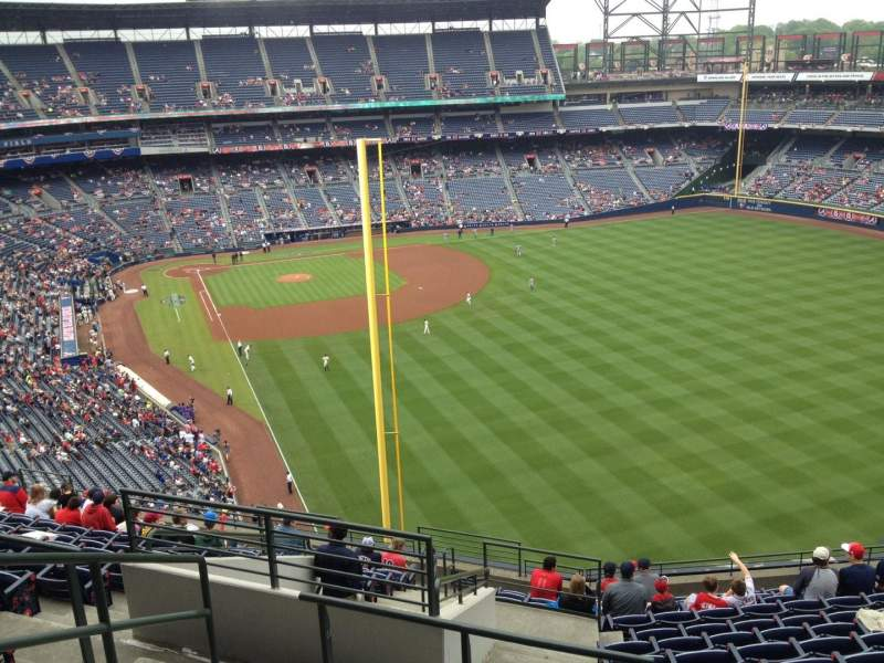 Seating view for Turner Field Section 431 Row 14 Seat 3