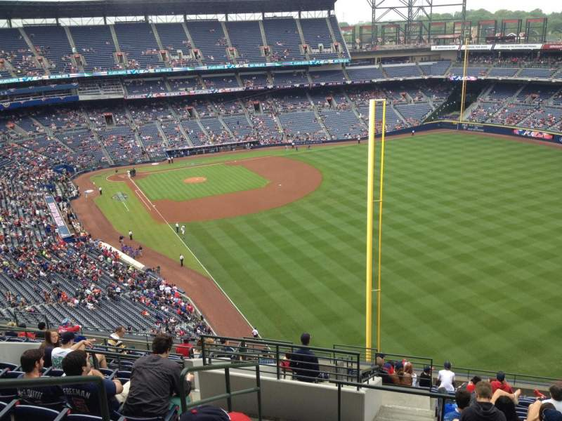 Seating view for Turner Field Section 429 Row 16 Seat 3