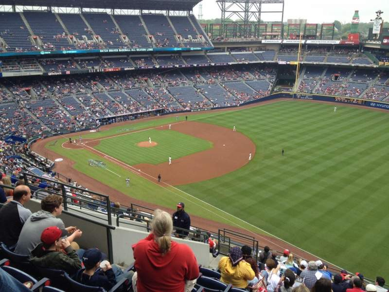 Seating view for Turner Field Section 421 Row 14 Seat 9