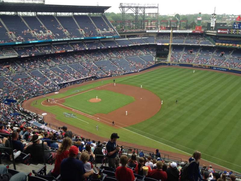 Seating view for Turner Field Section 419 Row 23 Seat 7