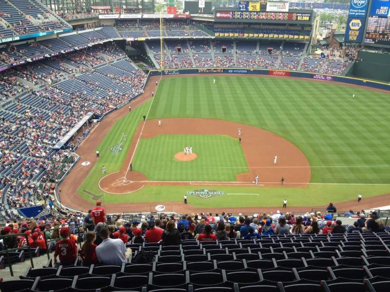 Seating view for Turner Field Section 409 Row 27 Seat 4
