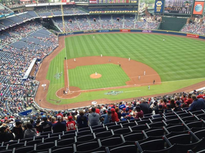 Seating view for Turner Field Section 407 Row 25 Seat 7