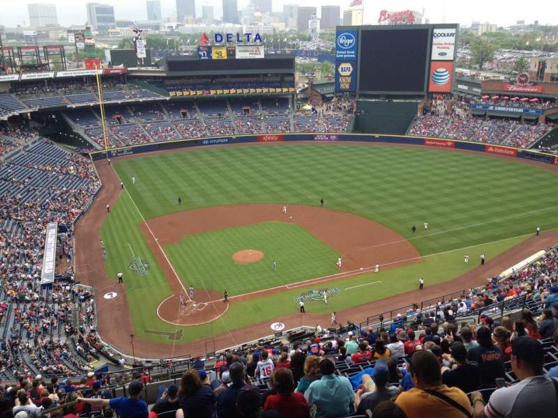 Seating view for Turner Field Section 405 Row 24 Seat 3
