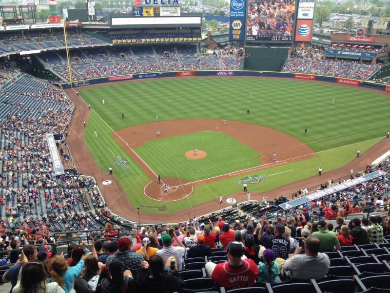 Seating view for Turner Field Section 403 Row 22 Seat 6