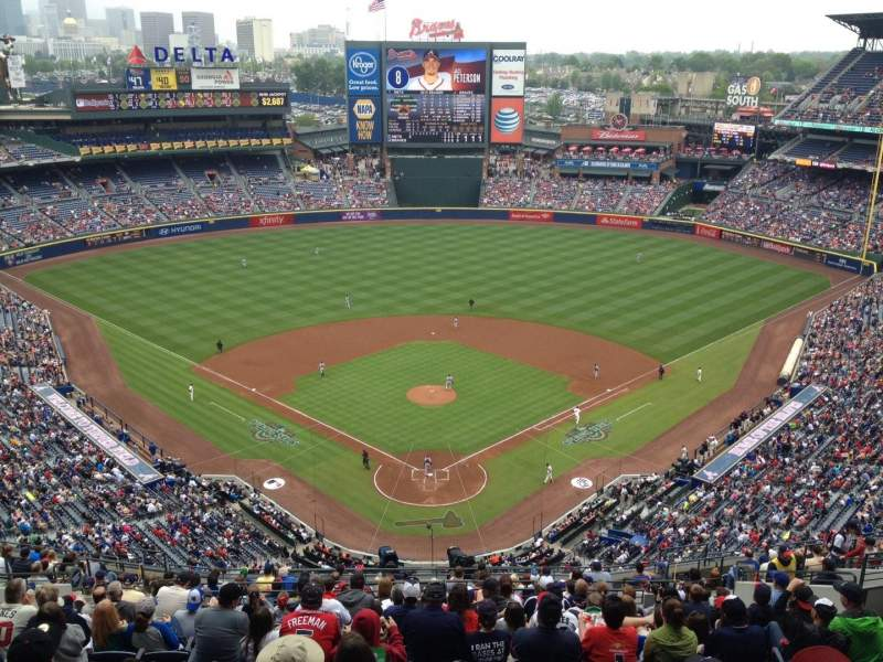 Seating view for Turner Field Section 402 Row 23 Seat 16