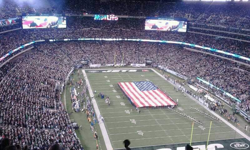 Seating view for MetLife Stadium Section 329 Row 18 Seat 12 -13