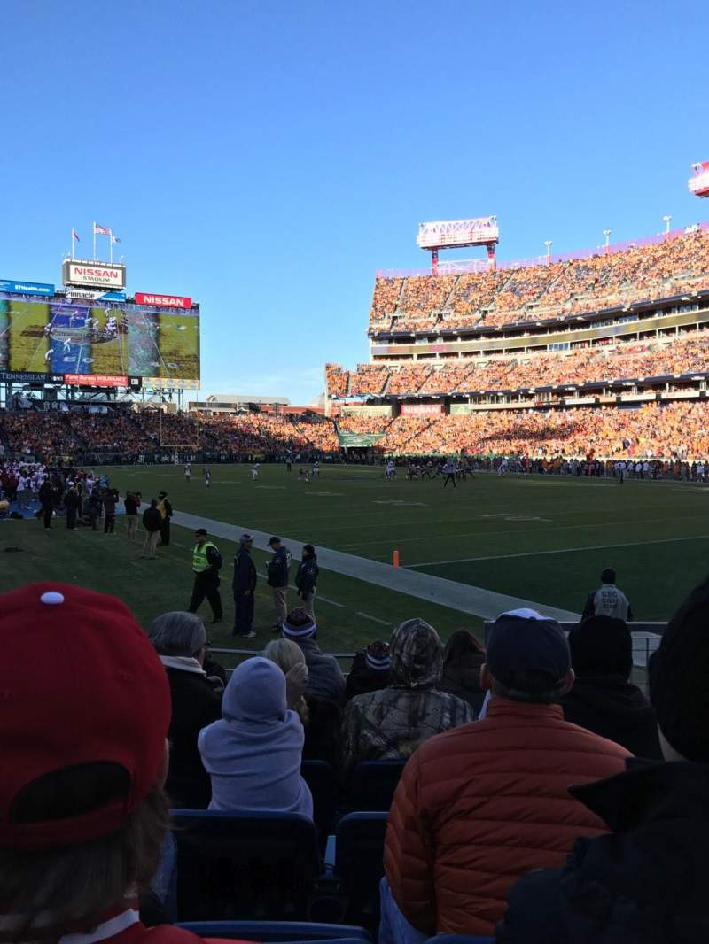 Seating view for Nissan Stadium Section 128 Row 11