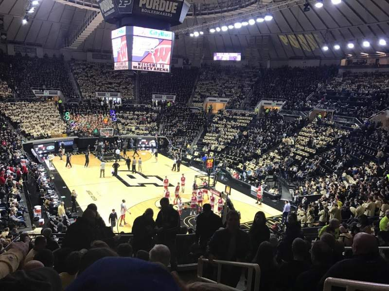 Seating view for Mackey Arena Section 106 Row 16