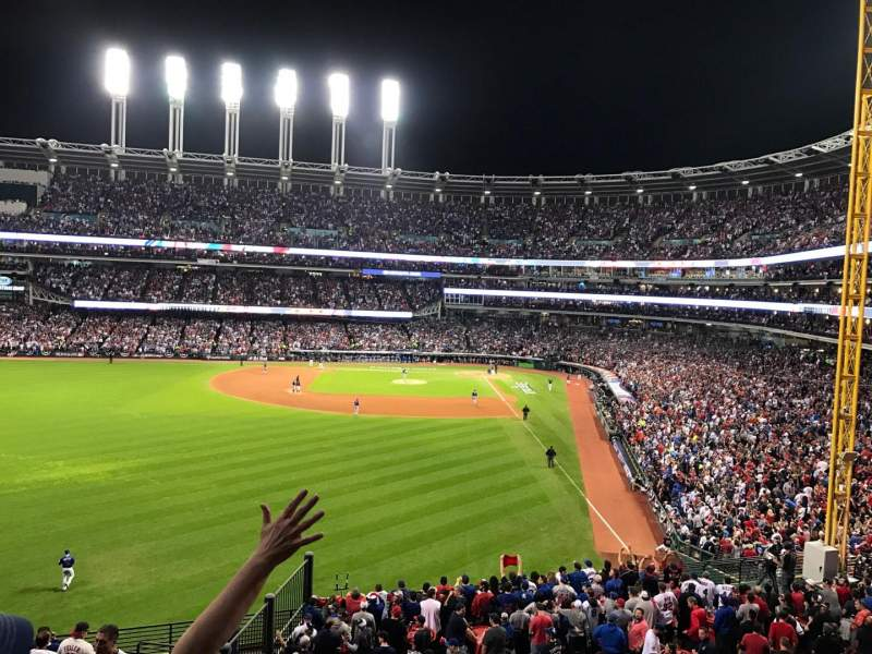 Seating view for Progressive Field Section 180 Row 15