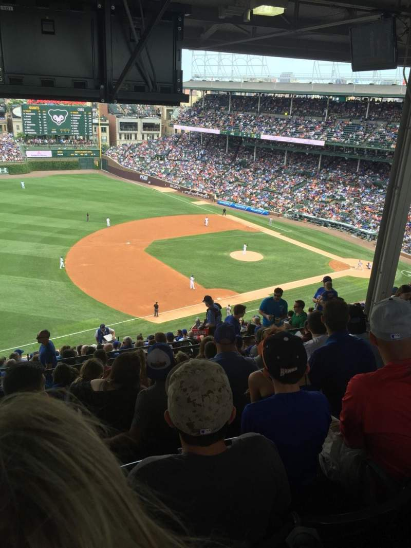 Wrigley Field, section: 509, row: Top