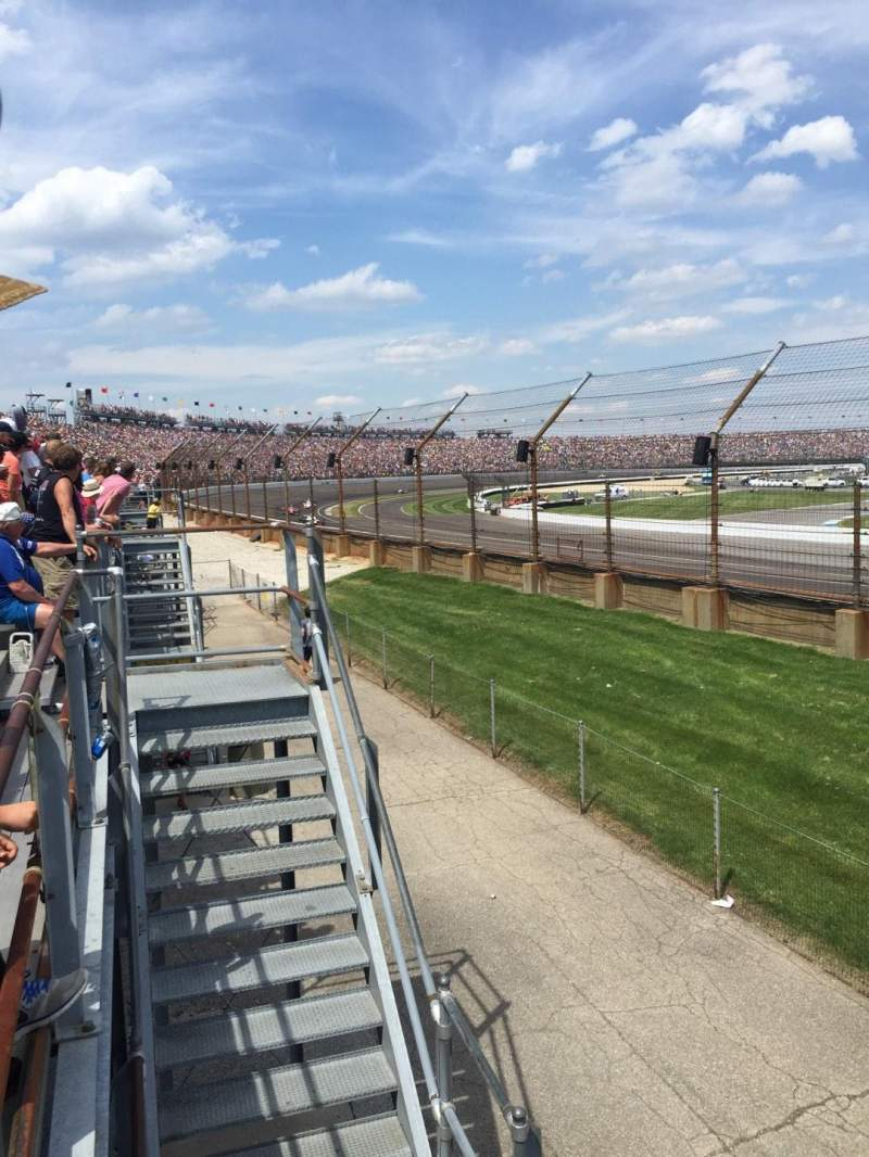 Seating view for Indianapolis Motor Speedway Section H Row 1