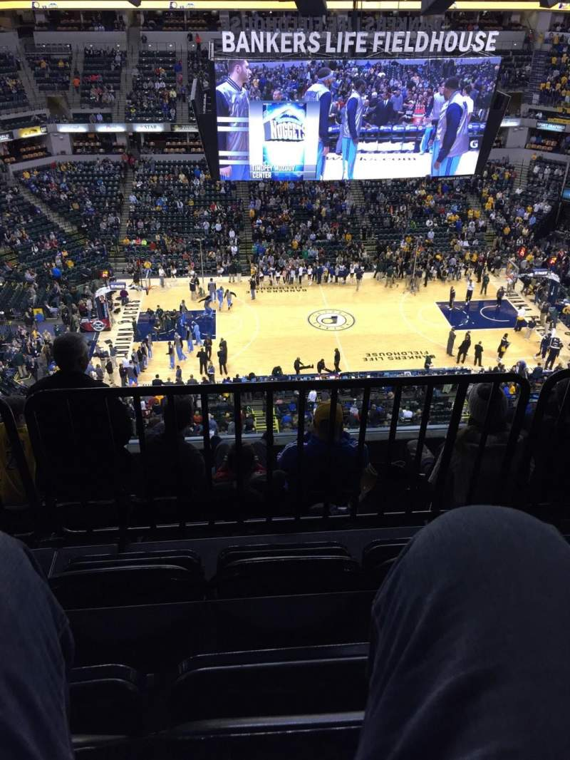 Bankers Life Fieldhouse, section: 208, row: 6