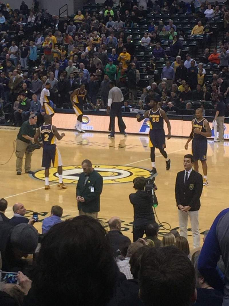 Seating view for Bankers Life Fieldhouse Section 15 Row 25
