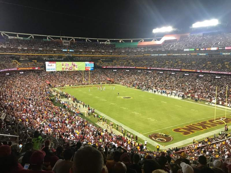 Seating view for FedEx Field Section 315 Row 13