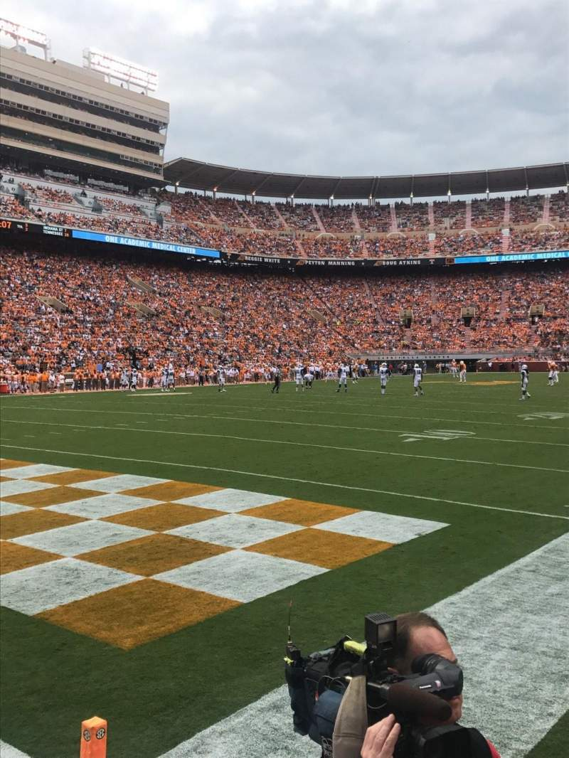 Seating view for Neyland Stadium Section J Row 1