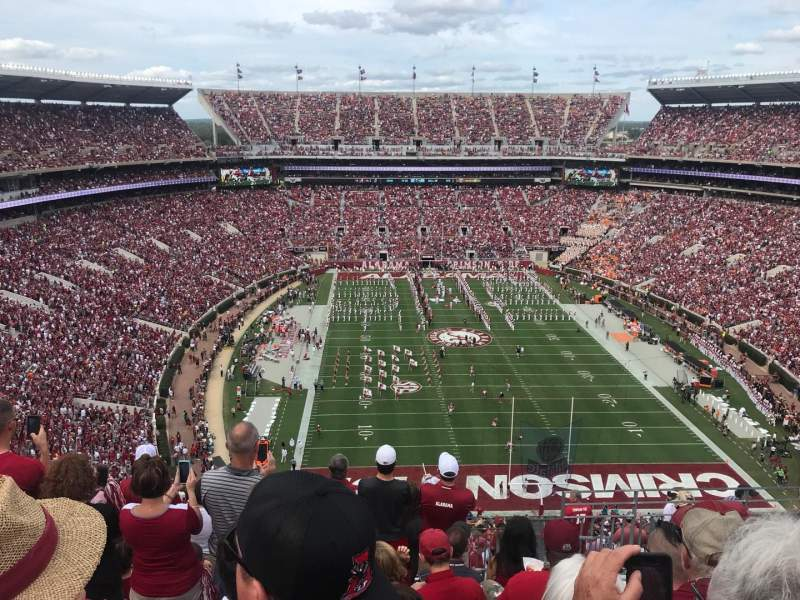 Seating view for Bryant-Denny Stadium Section SS-9 Row 14