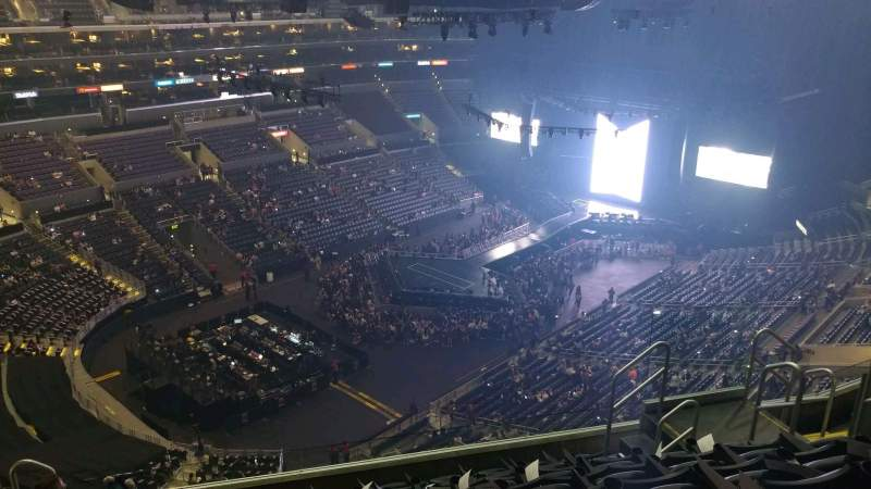 Seating view for Staples Center Section 305 Row 8 Seat 9