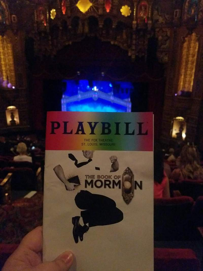 Seating view for The Fabulous Fox Theatre (St. Louis) Section Lower Balcony 5 Row K Seat 2