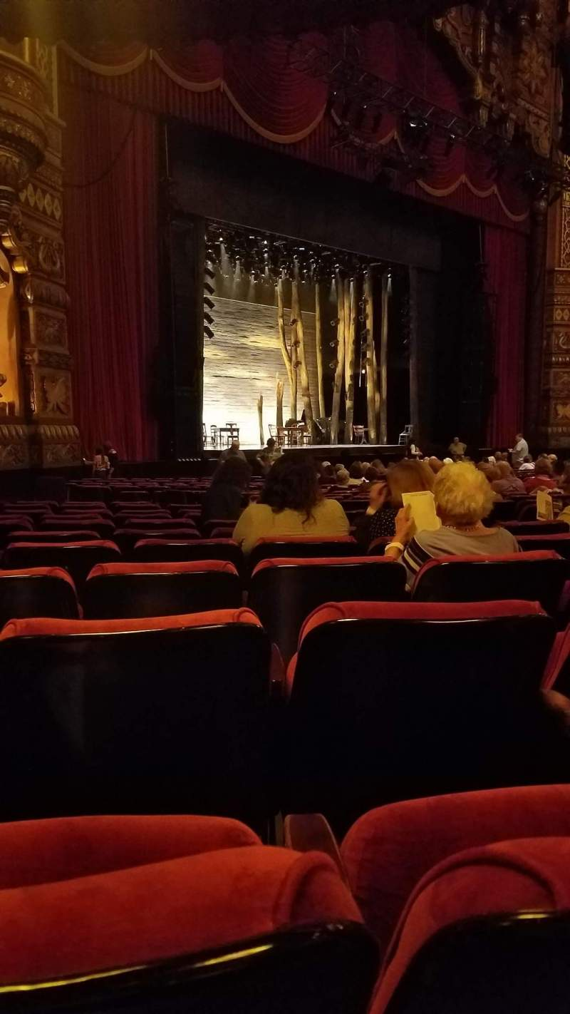 Seating view for The Fabulous Fox Theatre (St. Louis) Section Orchestra 1 Row T Seat 49