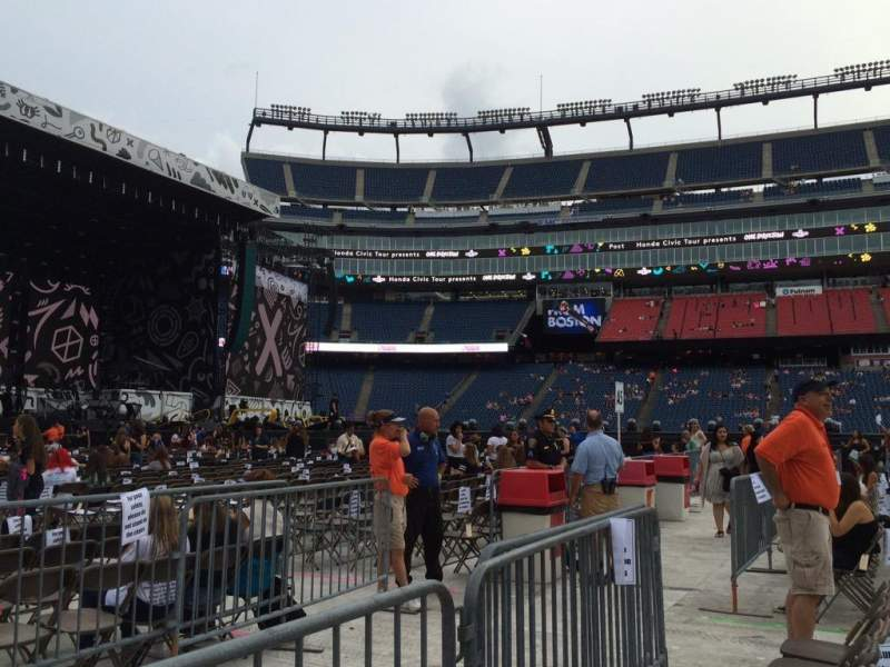 Seating view for Gillette Stadium Section B5 Row 2 Seat 12