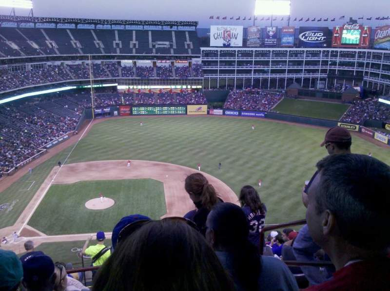 Seating view for Globe Life Park in Arlington Section 332 Row 16 Seat 24