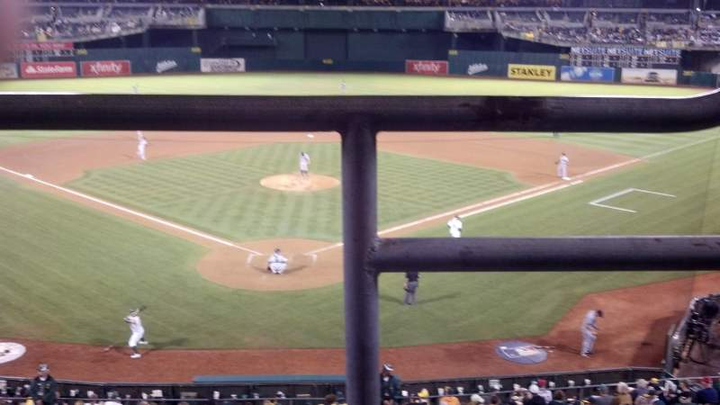 Seating view for Oakland Alameda Coliseum Section 217 Row 1 Seat 1