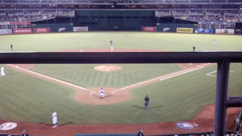 Seating view for Oakland Alameda Coliseum Section 217 Row 1 Seat 2