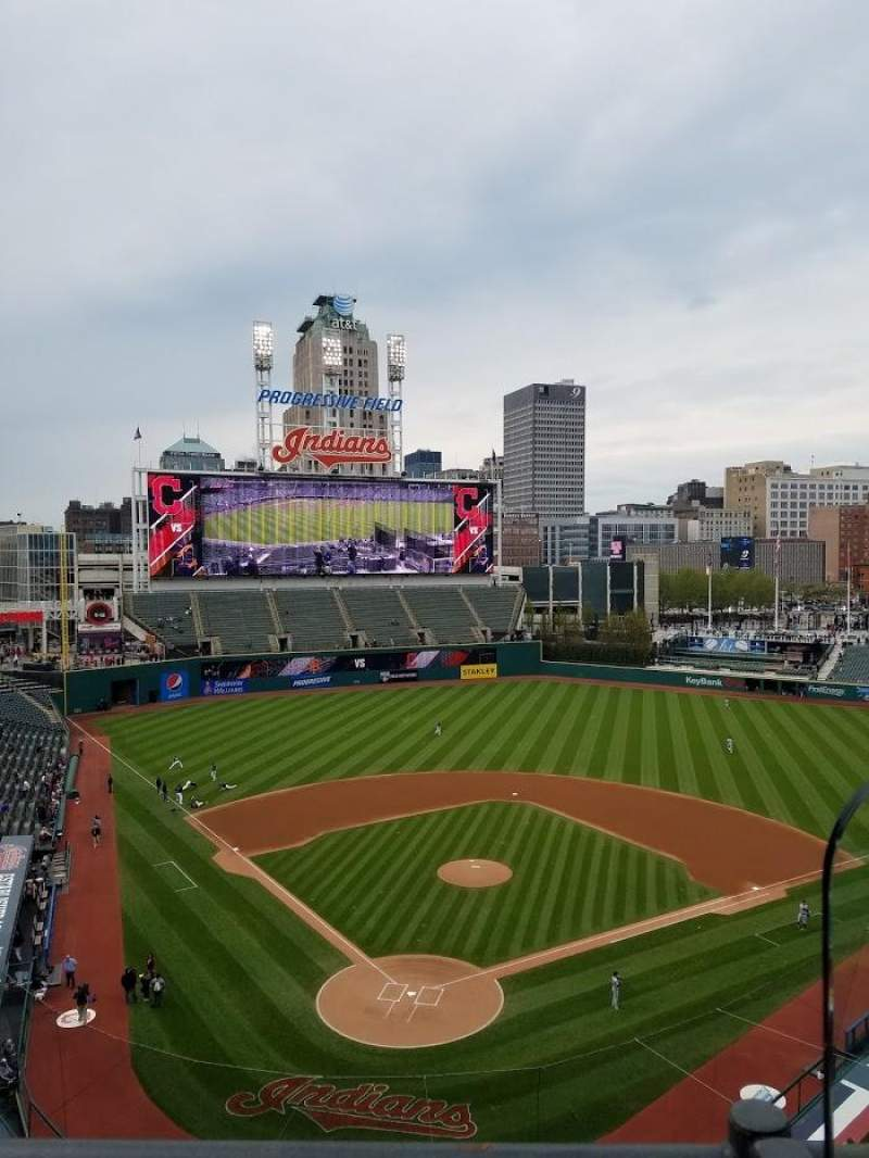 Seating view for Progressive Field Section 453 Row A Seat 3