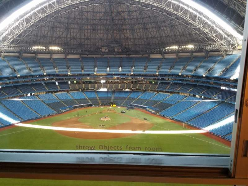 Seating view for Rogers Centre Section Toronto Marriott City Centre Row 442 Seat 1