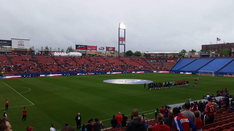 Seating view for Toyota Stadium Section 102 Row 17 Seat 20
