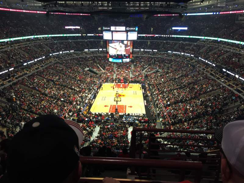 Seating view for United Center Section 326 Row 10 Seat 1