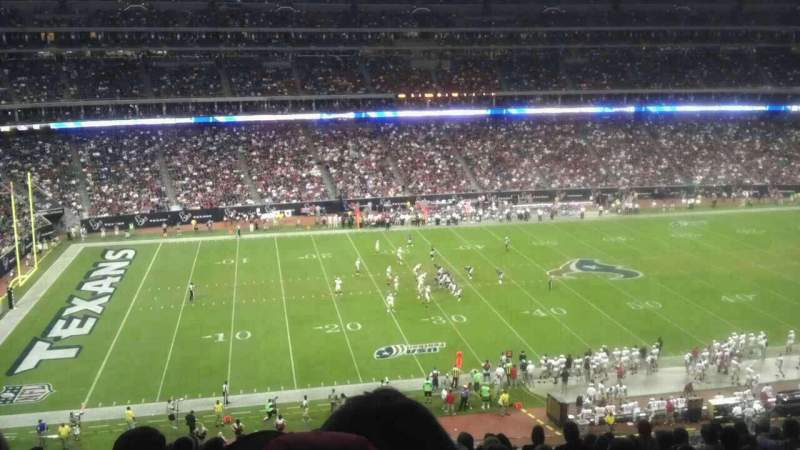 Seating view for NRG Stadium Section 340 Row U Seat 14