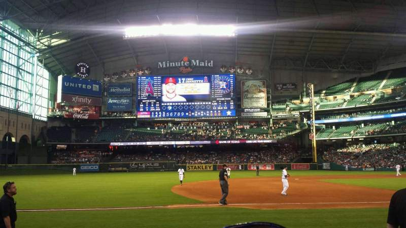 Seating view for Minute Maid Park Section 111 Row 10 Seat 8