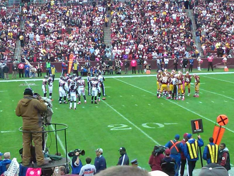 Seating view for FedEx Field Section 141 Row 17 Seat 8