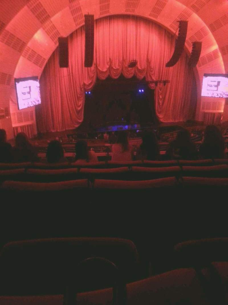 Seating view for Radio City Music Hall Section 2nd mezzanine 6 Row E Seat 606