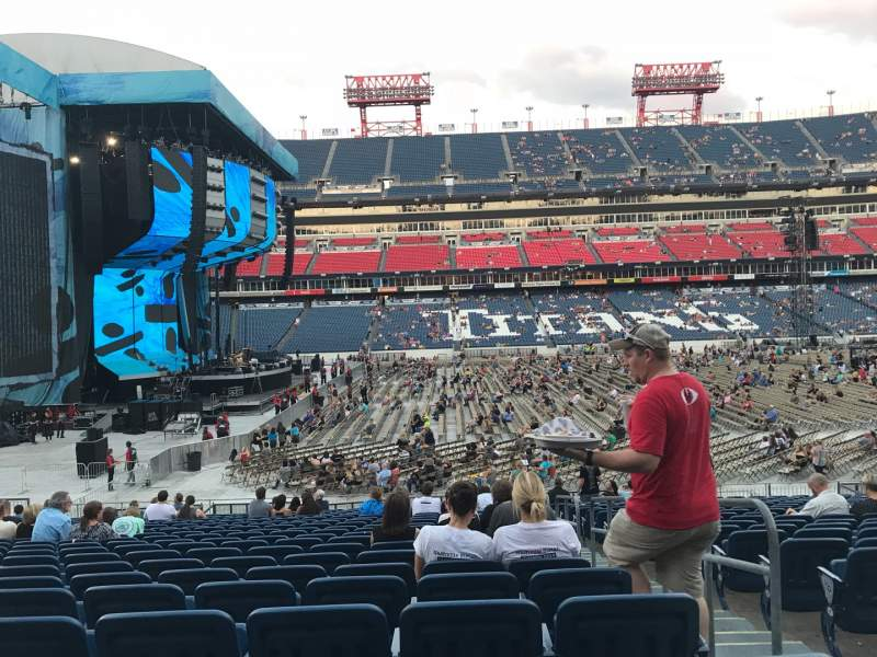 Seating view for Nissan Stadium Section 137 Row X Seat 2