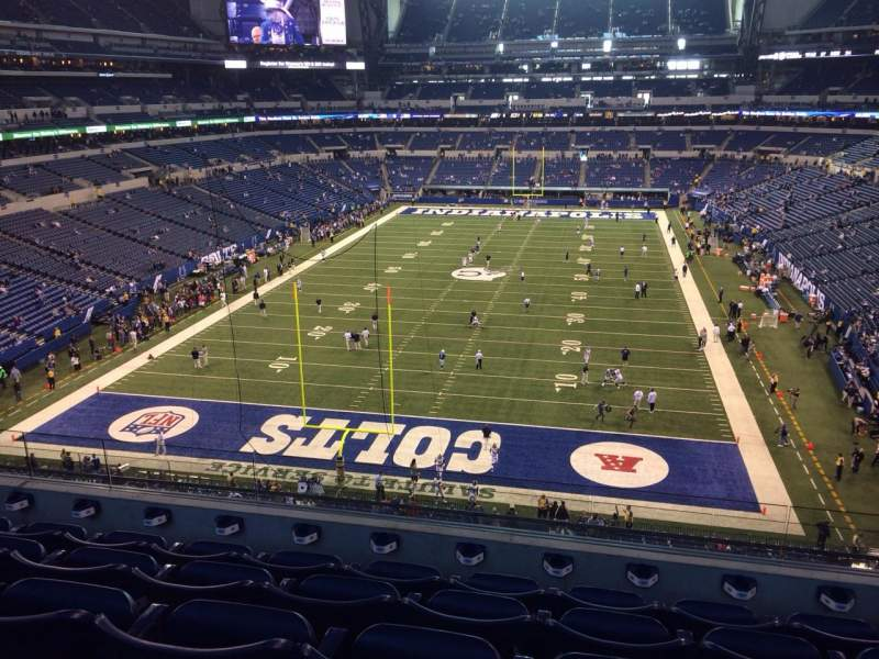 Seating view for Lucas Oil Stadium Section 452 Row 5 Seat 10